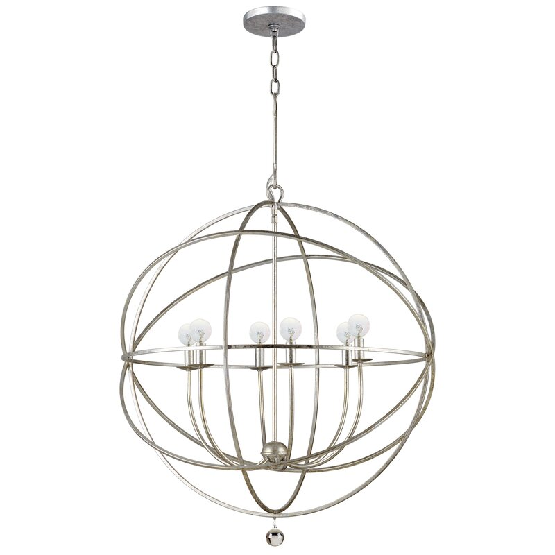 6 Candled World Shaped Chandelier