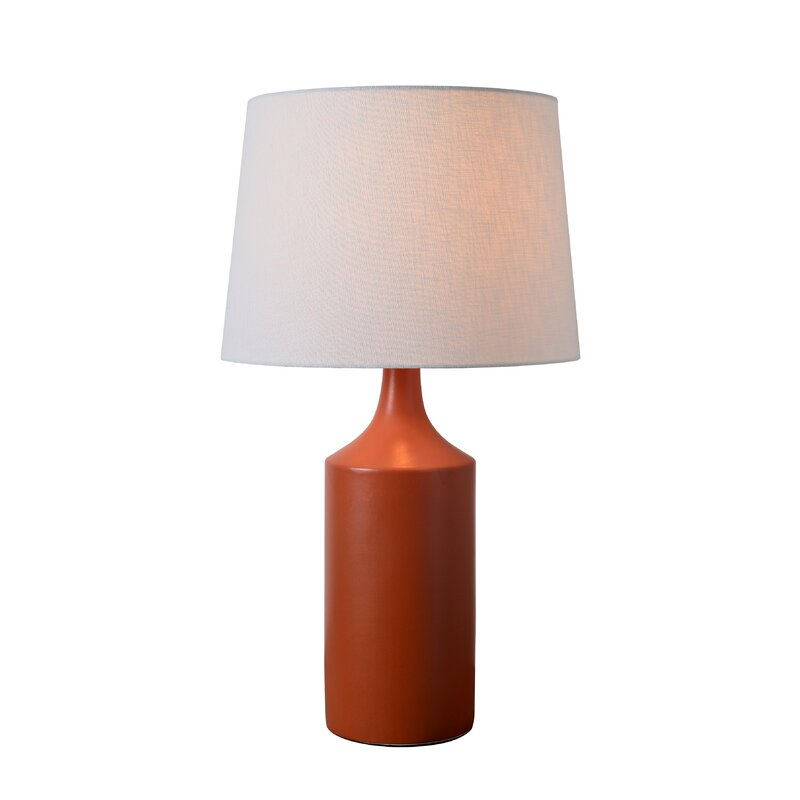 SingleLampshaded Table Lamp with Metal Finish