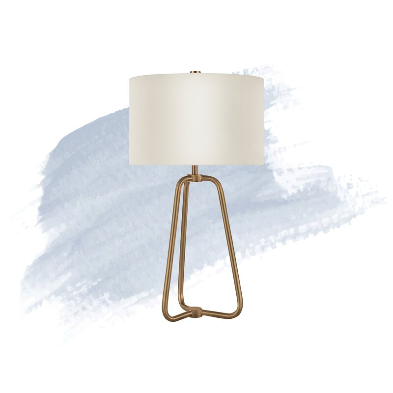 Tripod Lampshaded Table Lamp