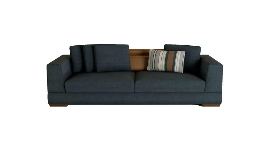 BIKOM 3.5-Seater Sofa Bed with Pillows