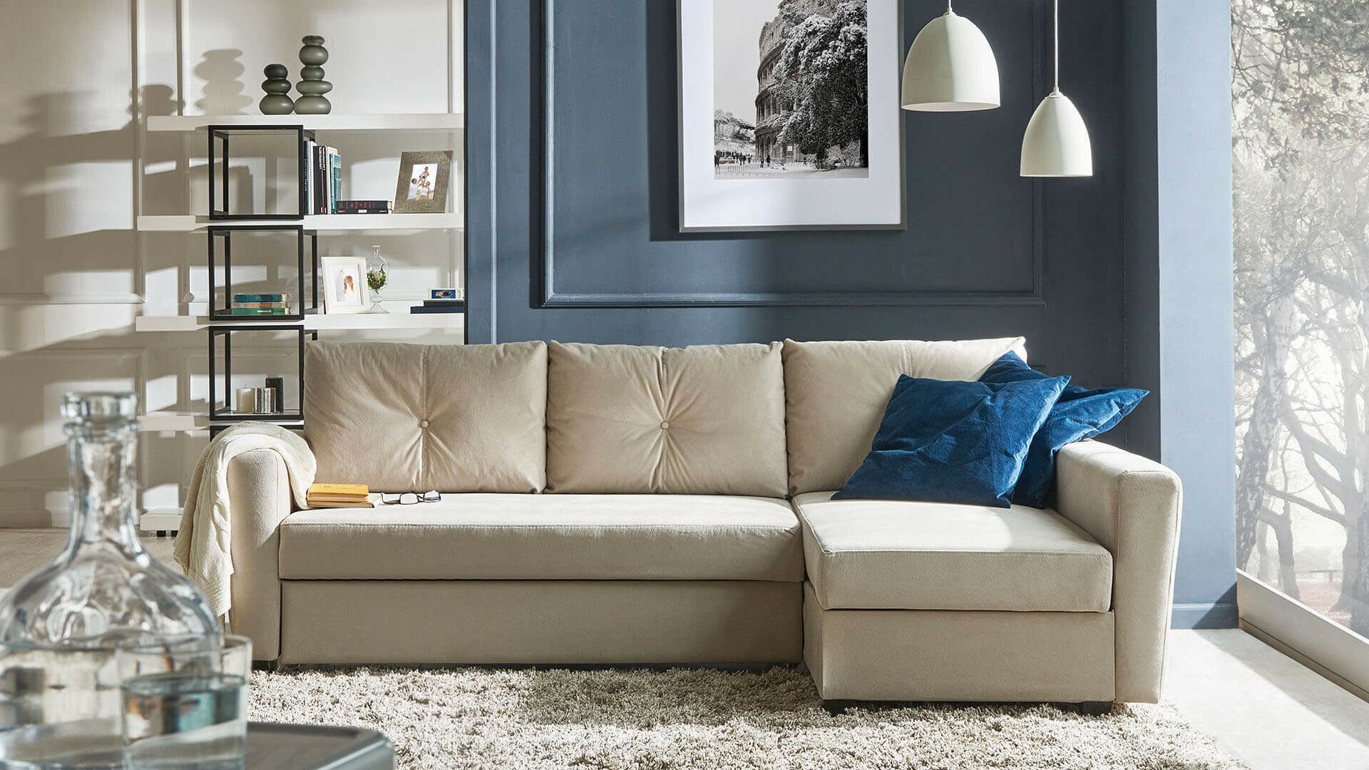 MATERA Sleeper Sectional Sofa With Storage